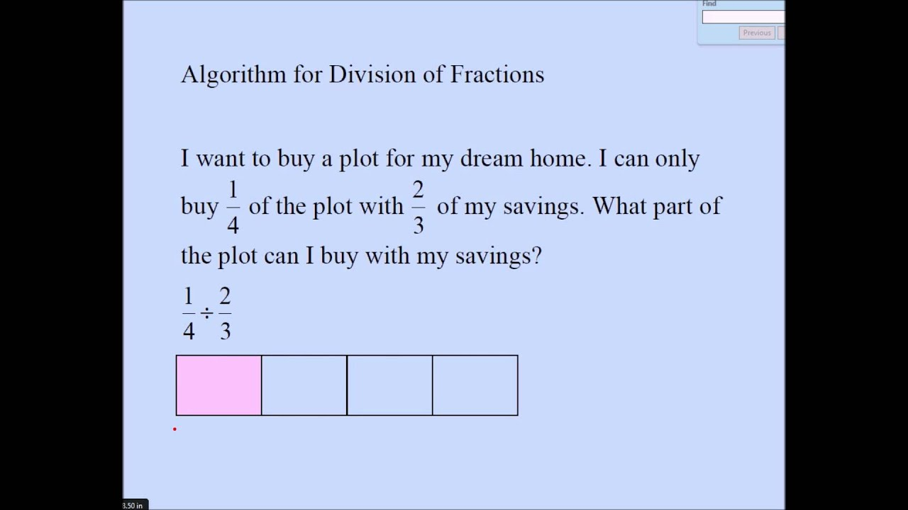 worksheet Division Of Fractions division of fractions partitive youtube partitive