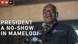President Cyril Ramaphosa was a no-show at Mamelodi Baptist Church, where displaced residents were staying after their homes were destroyed by recent floods. Gauteng Premier David Makhura addressed them instead to explain what government would l be doing to help them.