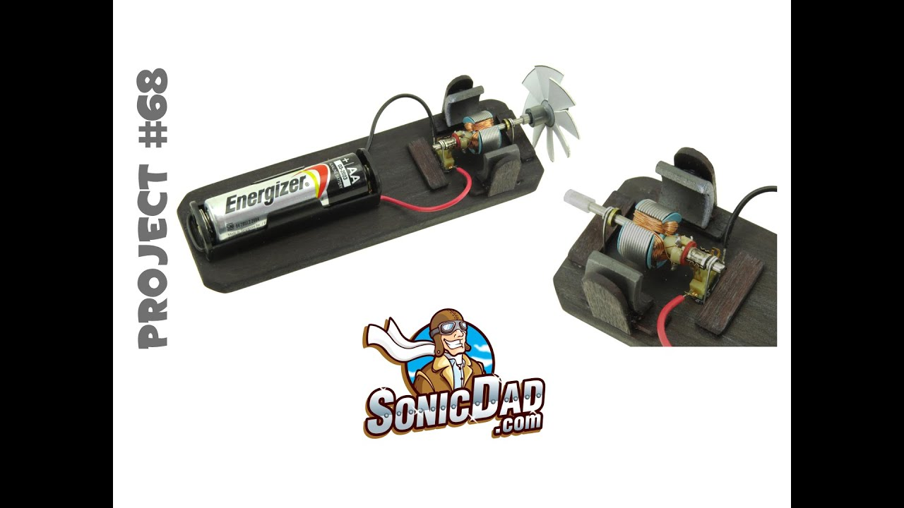 Sonic visible dc motor project 68 youtube for Science projects using motors