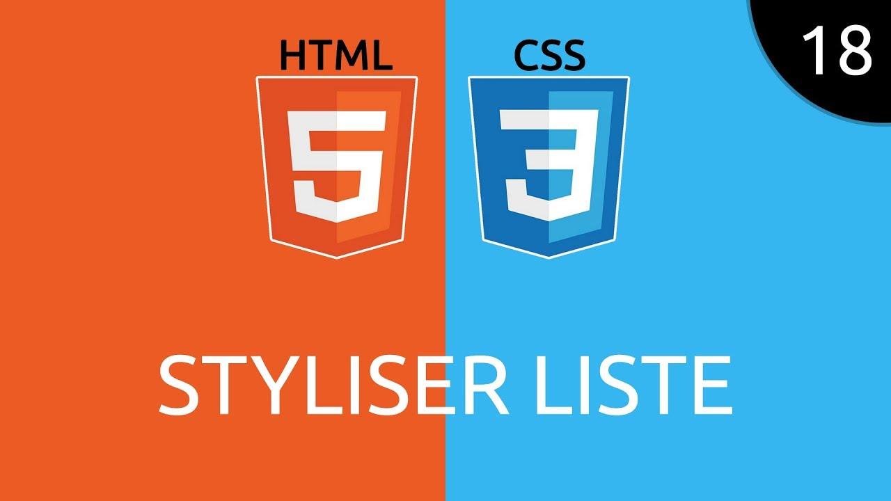HTML/CSS #18 - styliser liste