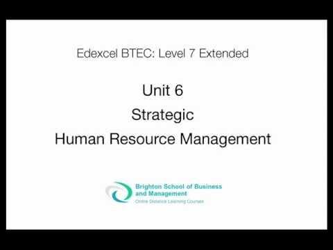 Unit 6 Strategic Human Resources Management Level 7 Extended