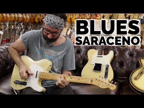 Blues Saraceno playing a 1959 Fender Telecaster Toploader at Norman's Rare Guitars
