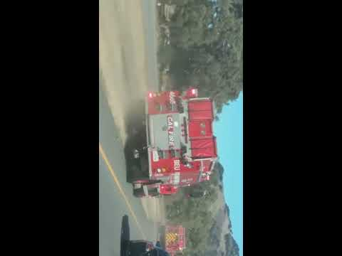 Pacheco Pass Hwy 152 truck fire