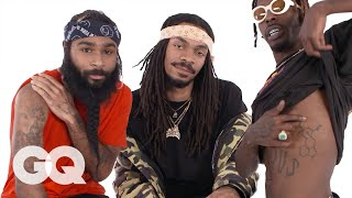Flatbush Zombies Break Down Their Tattoos | Tattoo Tour | GQ