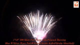 Video 1x8 300 Shots Fan Shape Cake:Peacock Showing Blue W Silver Wave Tail W Green Strobe & Red Strobe Min download MP3, 3GP, MP4, WEBM, AVI, FLV November 2017