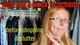 Back to school organize & declutter? | Help to get ready for school or a new job