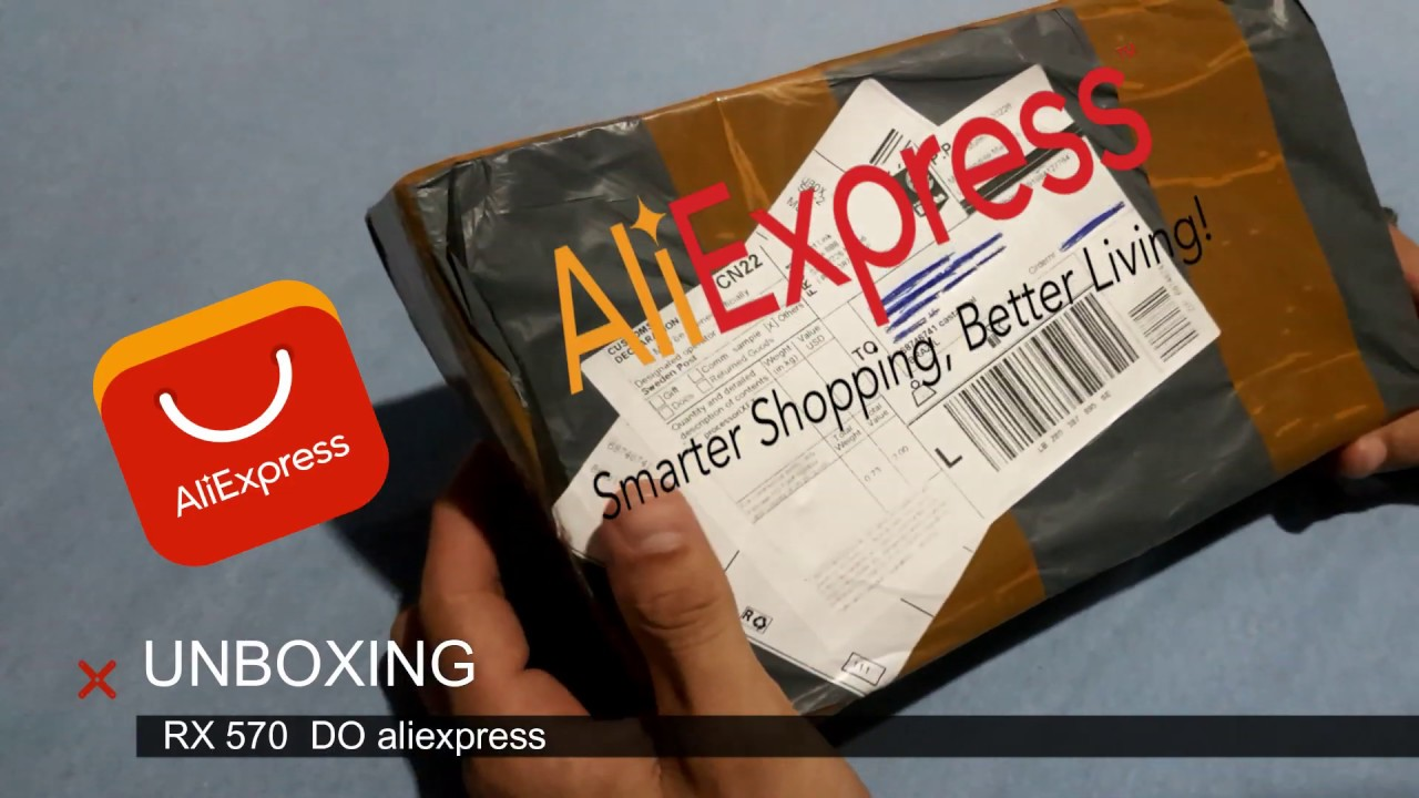 RX 570 DO ALIEXPRESS  ''UNBOXING''