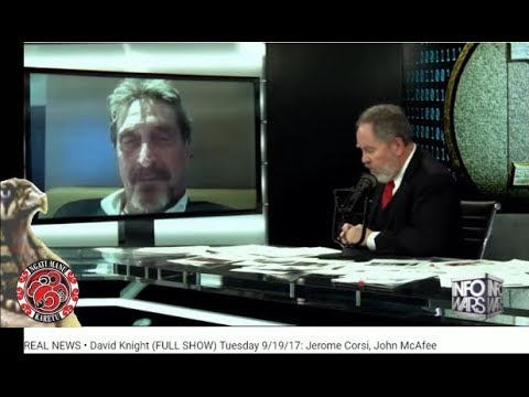 David Knight with John McAfee on Bitcoin and Equifax hack