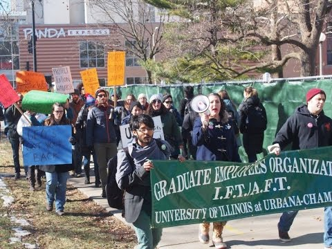 Ed Workers At University Of Ilinois U/C Speak Out For Worker Rights & Against Union Busting