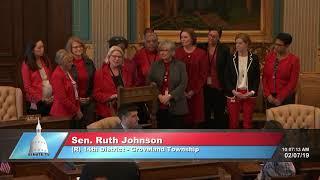 Sen. Johnson speaks in support of Go Red Senate Resolution