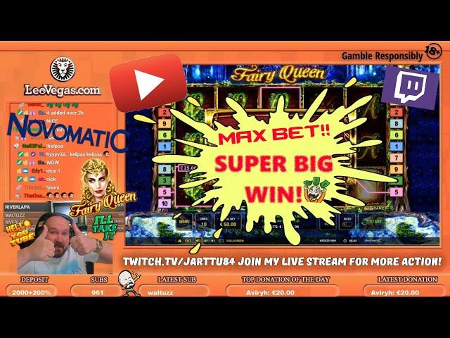 Max Bet!! Super Big Win From Fairy Queen Slot!!