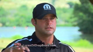 Funny Car champion Matt Hagan races drag boat