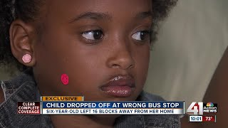School bus drops first grader off 16 blocks away from home