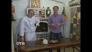 Мужчина на кухне: печень трески