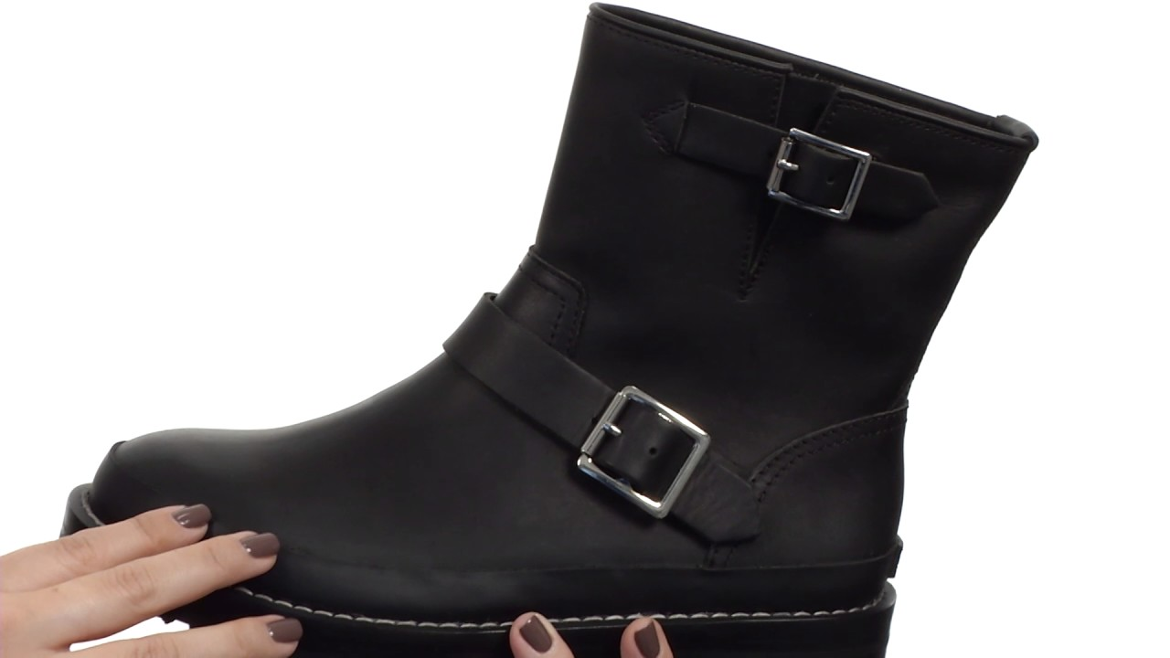 Hunter Original Leather Biker Boot SKU  8836358 - YouTube baee48e8ce6a
