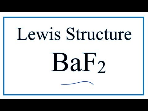How To Draw The Lewis Dot Structure For Baf2 Barium Fluoride