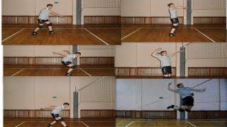 Волейбол. Обучающие видео. Нападающий удар. Часть 1.(В этом видео я подробно рассказываю и показываю разбег с трех шагов для выполнения нападающего удара. Первы..., 2016-10-16T05:40:13.000Z)