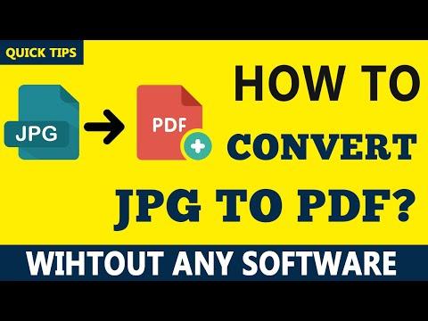 JPG To PDF Tutorial - How To Convert Jpg To Pdf Online Free (2019)