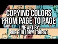 How to copy rendering layers for consistant colors! A Photoshop comic coloring tutorial