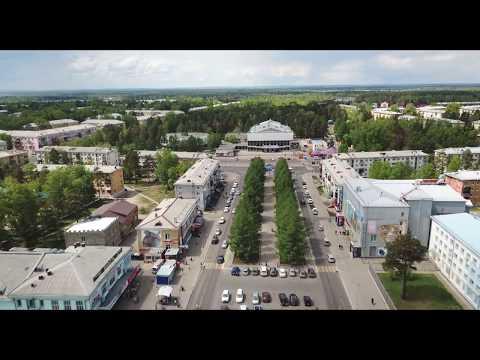 Ангарск с высоты птичьего полета (путешествие по улицам Ангарска)