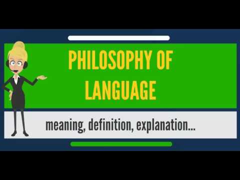What is philosophy of language what does philosophy of for What does diction mean