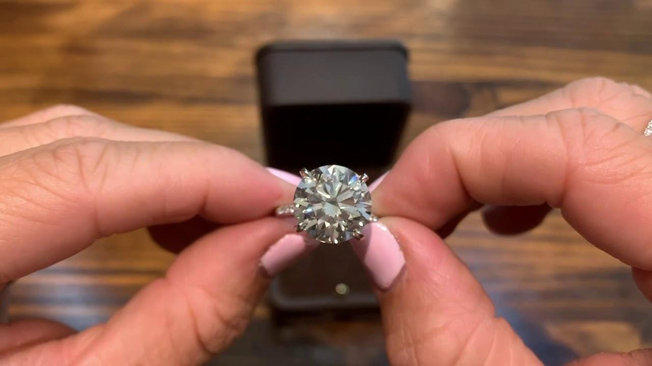 8 Ct Round Diamond Youtube