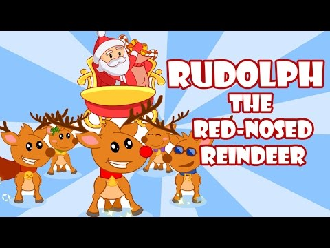 Rudolph The Red Nosed Reindeer | Christmas Songs for Kids | By BabyMoo