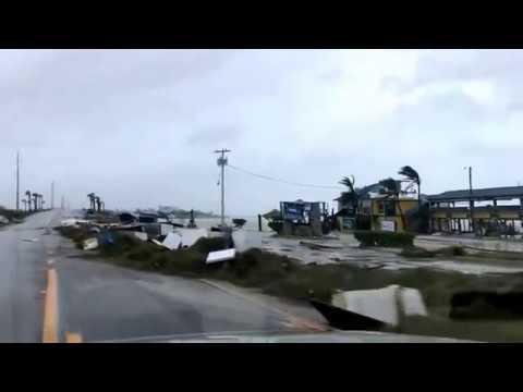 HURRICANE IRMA FOOTAGE ISLAMORADA FLORIDA DAMAGE AFTERMATH 2017 Part  1