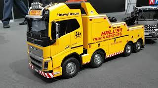 Tamiya 56362 1/14 Volvo FH16 Globetrotter 750 8x4 TowTruck at Nuremberg Toy-Fair 2020