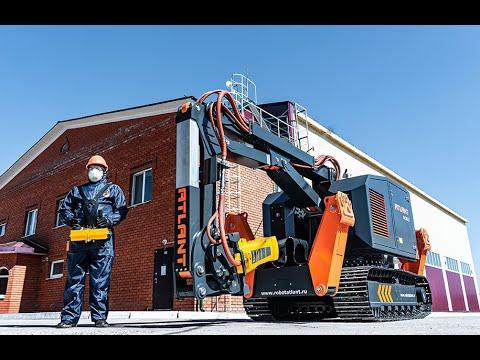 Российский робот АТЛАНТ 6000 для демонтажных работ. За гранью человеческих возможностей.