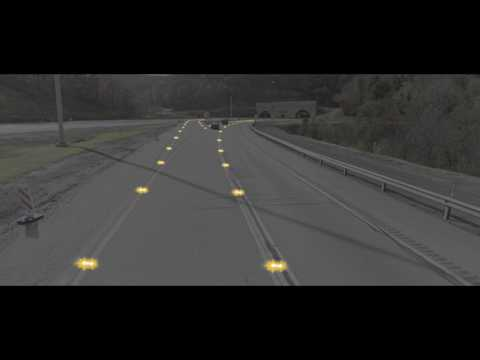 LED Enhanced Counter Flow Lane Control - Simulation