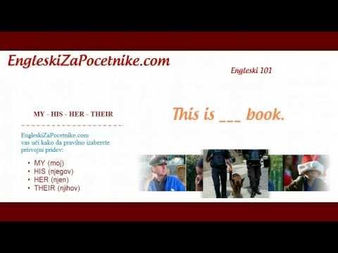 Engleski 15. Dan - Prisvojni pridevi u engleskom