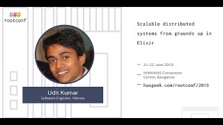 Scalable distributed systems from grounds up in Elixir