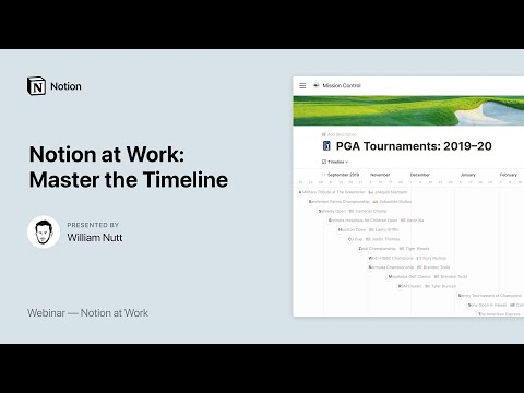 Notion at Work: Master the Timeline View
