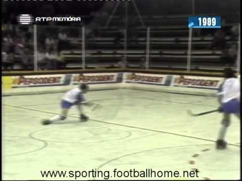 Hoquei Patins :: Sporting - 4 x Paço de Arcos - 7 de 1988/1989 Taça de Portugal M/F