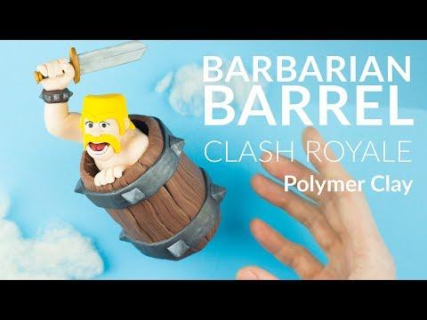 Barbarian Barrel (Clash Royale) – Stop Motion / Claymation & Polymer Clay Tutorial