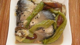 Pinoy Recipe - Paksiw Na Bangus [stew Milk Fish With Vegetables]