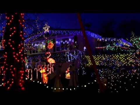 "Best Christmas Lights 2016 -  Kelowna BC, Canada   ""Candy Cane Lane"" -  YouTube"