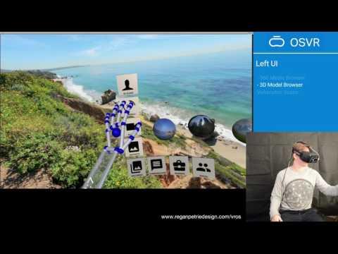 VR Interface Design Previs -- Walkthough