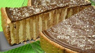 Eurokrem keks torta - crno bela - ne peče se
