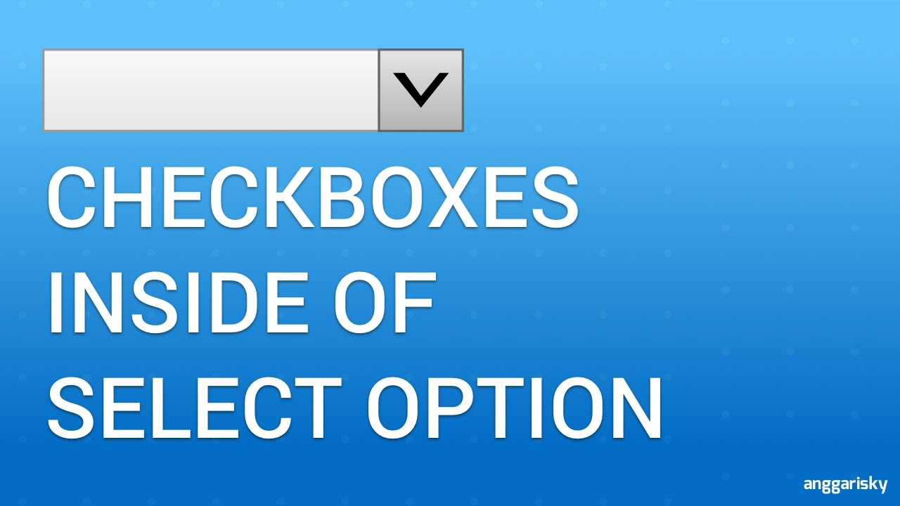 How to use Checkbox inside Select Option HTML JavaScript CSS Tutorial