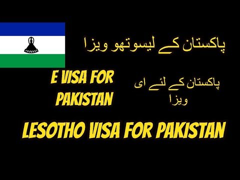lesotho e visa for pakistani and indian how to apply .