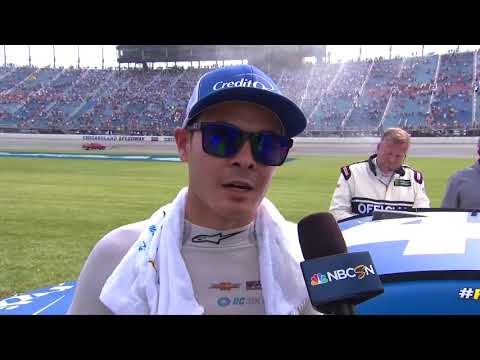 Kyle Larson reacts to hard-fought finish with Kyle Busch
