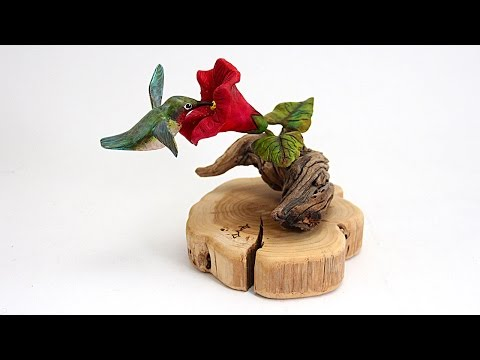 How to Paint a Carved Hummingbird Sculpture with Barb - HowToGetCreative.com