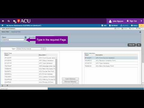 acu tutorial direct user guide