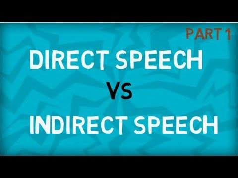 Direct Speech | Indirect Speech | Types Of Speech
