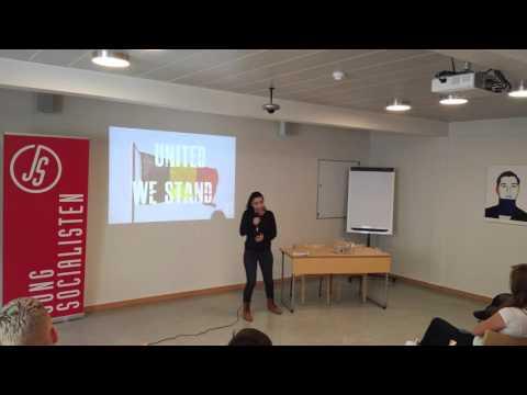 Jongsocialisten - Speech Evin Incir IUSY #WeStandUnited