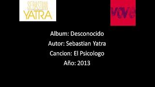 Sebastian Yatra - El Psicologo [Lyrics - Letra]
