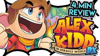 4 MIN REVIEW - Alex Kidd in Miracle World DX (Video Game Video Review)