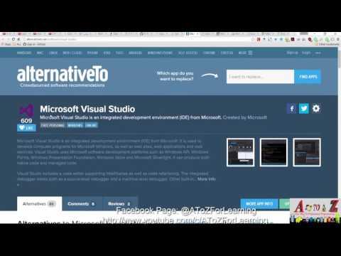 50- Visual Studio Alternative بدائل تغنيك عن أستخدام الفيجول أستديو